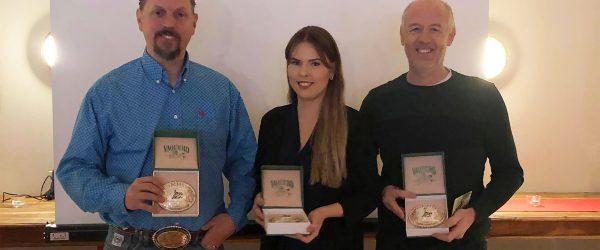 Några av Year End Award vinnarna: Johan Fridberger,Therese Henriksson och Steve Clinch.